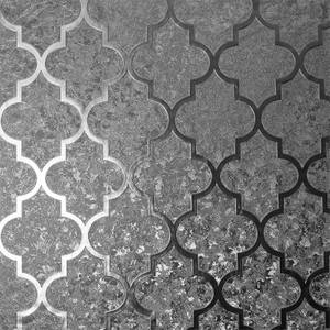 Arthouse Velvet Trellis Gunmetal Wallpaper