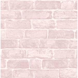 Fresco Pink Brick Wallpaper
