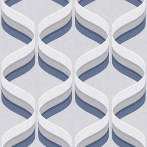 Fresco Geometric Smooth Navy Wallpaper