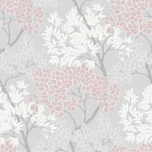 Fresco Tree Smooth Pink Wallpaper