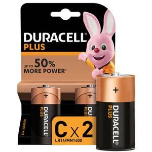 Duracell Plus Type C Batteries (MN1400 C K2) - 2 Pack
