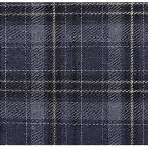 Arthouse Twilled Plaid Navy Gold Wallpaper