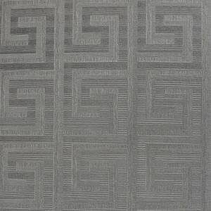 Arthouse Greek Key Foil Gunmetal Wallpaper