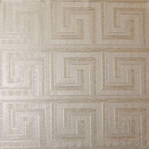 Arthouse Greek Key Foil Champagne Wallpaper