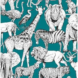 Superfresco Easy Jungle Animals Green Wallpaper