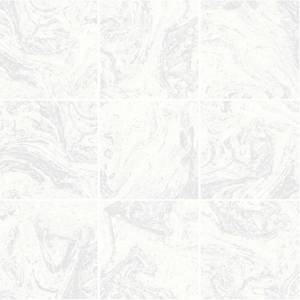 Superfresco Easy Large Marble Tile Silver Wallpaper