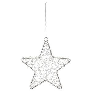 Silver Wire Star Hanging Christmas Tree Decoration