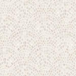 Contour Mosaic Tile Taupe Wallpaper