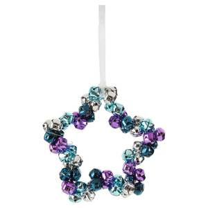 Midnight Magic Bells Star Hanging Christmas Tree Decoration