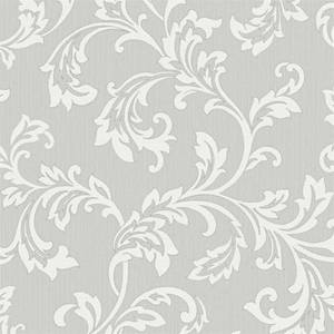 Fine Decor Bamburgh Scroll Grey Wallpaper