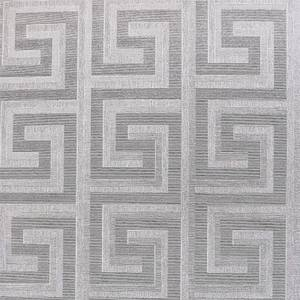 Arthouse Greek Key Foil Silver Wallpaper