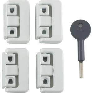 Yale Window Lock - White - 4 Pack