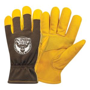 Big Mike's Leather Lined Winter Work Gloves - Medium