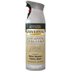 Rust-Oleum Titanium Silver - Universal Metallic Spray Paint - 400ml