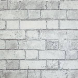 Brickwork White Wallpaper