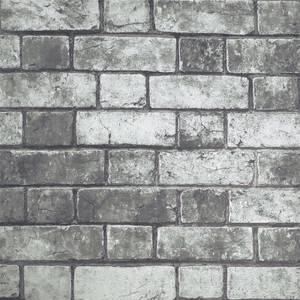 Arthouse Brickwork Grey Wallpaper