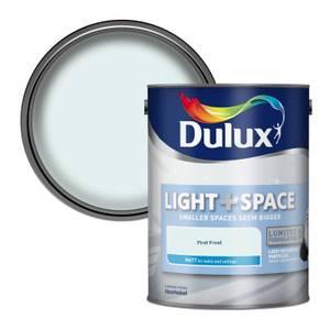Dulux Light & Space First Frost - Matt Emulsion Paint - 5L