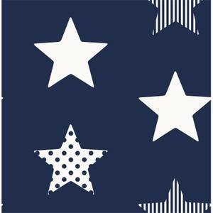 Superfresco Easy Superstar Navy Wallpaper