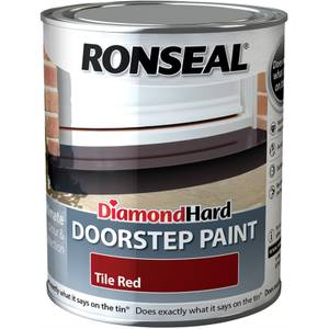 Ronseal Diamond Hard Tile Red - Doorstep Satin Paint - 750ml