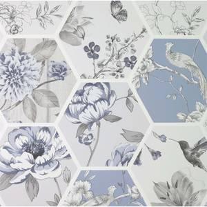 Arthouse Chinoise Decoupage Blue Wallpaper
