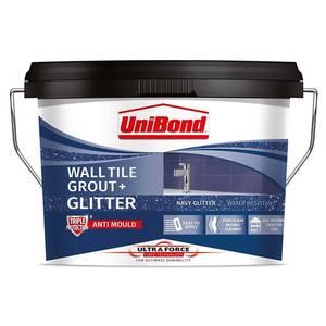 UniBond UltraForce Wall Tile Grout Blue Glitter 3.2kg