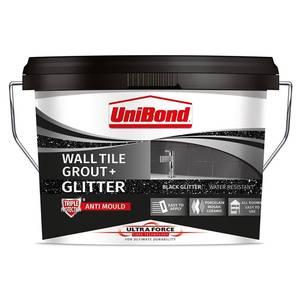 UniBond UltraForce Wall Tile Grout Black Glitter 3.2kg