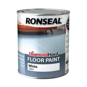 Ronseal Diamond Hard White - Floor Paint - 750ml