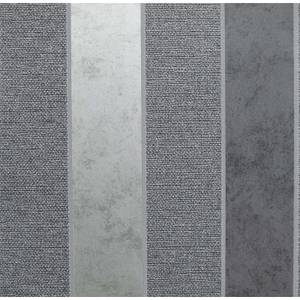 Arthouse Calico Stripe Gunmetal Wallpaper