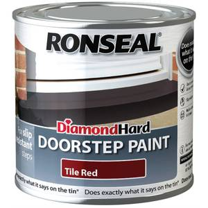 Ronseal Diamond Hard Tile Red - Doorstep Satin Paint - 250ml
