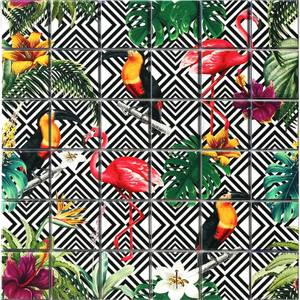 HoM Tropical Mono Self-Adhesive Mosaic Tile Sheet