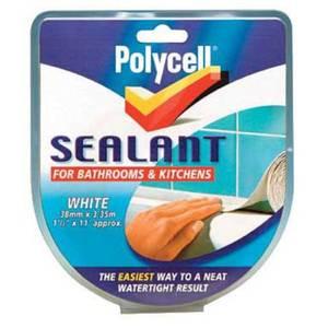 Polycell White Sealant Strip - 41mm