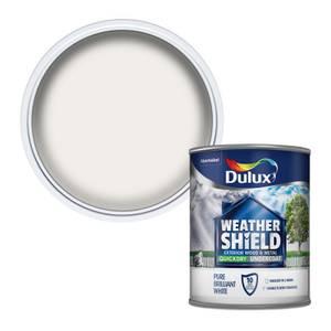 Dulux Weathershield Exterior Quick Dry Undercoat - Pure Brilliant White - 750ml
