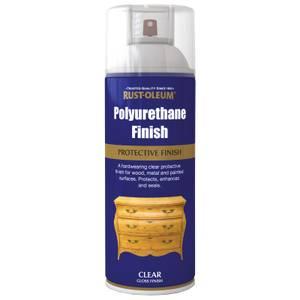 Rust-Oleum Polyurethane Gloss Spray Paint - Clear - 400ml