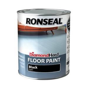 Ronseal Diamond Hard Black - Floor Paint - 750ml
