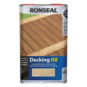Ronseal Standard Decking Oil Natural - 5L