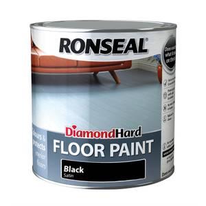 Ronseal Diamond Hard Black - Floor Paint - 2.5L