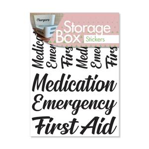 Box Stickers Medication and First Aid