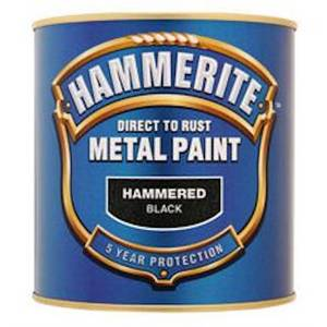 Hammerite Silver Grey - Hammered Exterior Metal Paint - 250ml