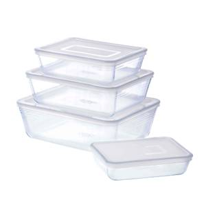 Pyrex Cook & Freeze Rectangular 4 Piece Food Storage Set - White
