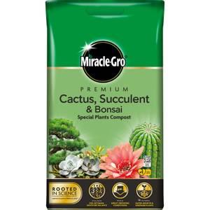 Miracle-Gro Premium Cactus, Succulent & Bonsai Compost - 6L