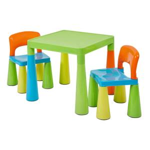 Classic Multicoloured Table and 2 Chairs