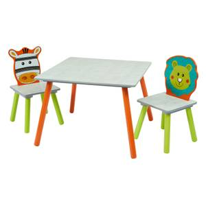 Zebra and Lion Table and 2 Chairs