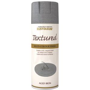 Rust-Oleum Textured Spray Paint - Aged Iron - 400ml