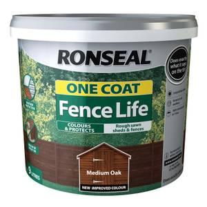 Ronseal One Coat Fence Life Medium Oak - 9L