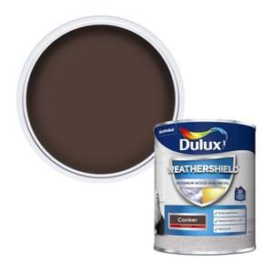 Dulux Weathershield Exterior Gloss Paint - Conker - 750ml