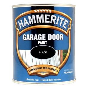 Hammerite Black - Gloss Garage Door Paint - 750ml