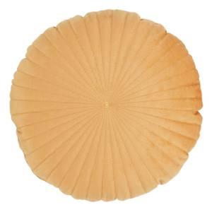 Round Velvet Cushion - Ochre - 45cm