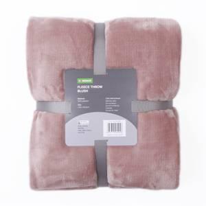 Fleece Throw - Blush Pink - 120x150cm