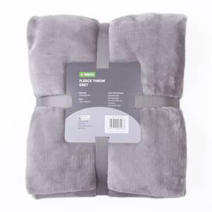 Fleece Throw - Grey - 120x150cm