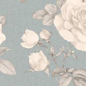 Belgravia Decor Rosa Smooth Teal Wallpaper
